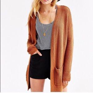 Mossimo burnt orange cozy knit cardigan w/ pockets
